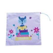 Personalised Library Bag - Reading Fox