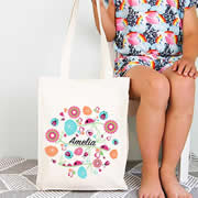 Personalised Library Bag - Ladybird Garden Girls
