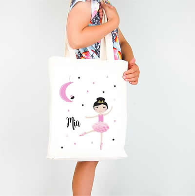 Personalised Library Bag - Moon Dancer Girls