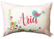 .Personalised Cotton Cushion for kids  - Baby Bird