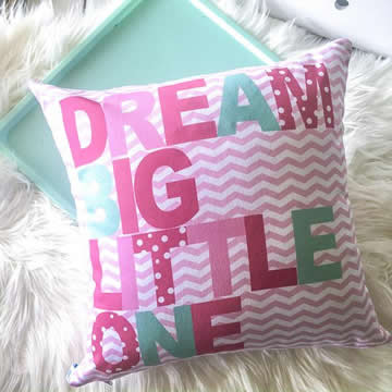 .Personalised Cotton Cushion for kids  - Dream Big Girls