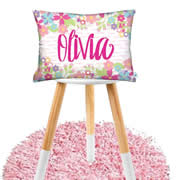Personalised Cotton Cushion for kids - In Bloom