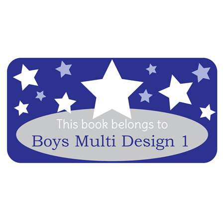 Personalised School Labels Boys Multi - Book Labels Vinyl 40 labels free shipping