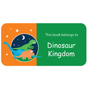 Personalised School Labels Dinosaur Kingdom - Book Labels Vinyl 40 labels free shipping