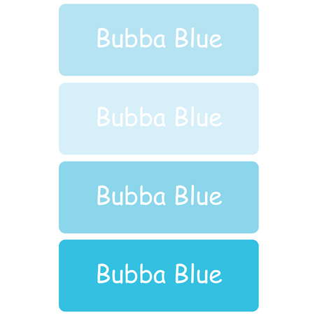 Personalised School Labels Bubba Blue - Labels Vinyl Essentials 46 labels free shipping