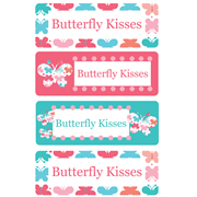 Personalised School Labels Butterfly Kisses - Labels Vinyl Essentials 46 labels free shipping