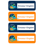 Personalised School Labels Dinosaur Kingdom - Labels Vinyl Essentials 46 labels free shipping