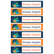Personalised School Labels Dinosaur Kingdom - Labels Vinyl Jumbo 52 labels free shipping