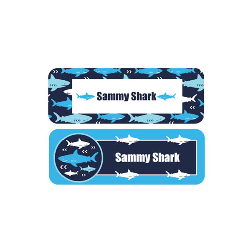 Personalised School Labels Shark - Labels Vinyl Essentials 46 labels free shipping