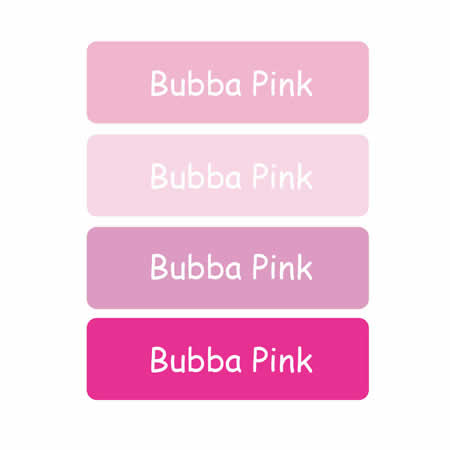 Personalised School Labels Bubba Pink - Labels IRON-ONS 48 labels free shipping