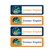 Personalised School Labels Dinosaur Kingdom - Labels IRON-ONS 48 labels free shipping