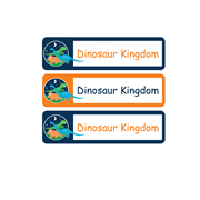 Personalised School Labels Dinosaur Kingdom - Labels Vinyl Mighty 48 labels free shipping