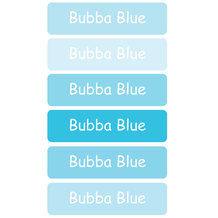 Personalised School Labels Bubba Blue - Labels Vinyl Mighty 96 labels free shipping