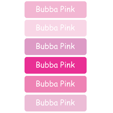 Personalised School Labels Bubba Pink - Labels Vinyl Mighty 96 labels free shipping
