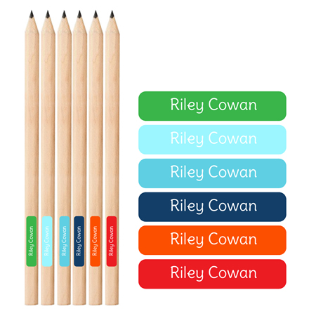 .Personalised School Labels for Boys - Pencil Labels 66 labels free shipping