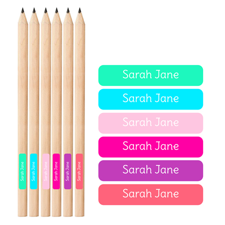 .Personalised School Labels for Girls - Pencil Labels 66 labels free shipping