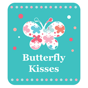 Personalised School Labels Butterfly Kisses - Shoe Labels 15 pairs free shipping