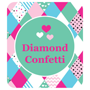 Personalised School Labels Diamond Confetti - Shoe Labels 15 pairs free shipping