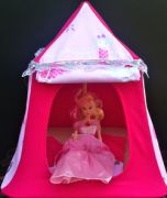 Kids Mini Play Tent Teepee - Hot Pink and Ballet Design