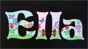 Wooden Alphabet Letters for walls Handpainted and personalised for kids - Springtime Theme