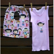Bib and Singlet Set - Yui Kokeshi