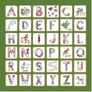 Canvas Alphabet for kids - GIRLS Animals