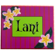 Personalised Name Plaque for kids wall or door Frangipani