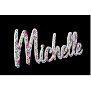 Fabric Covered Wooden Scripted Name Plaque for kids LARGE Font Retro Style Letters 8 letter name