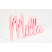 Wooden Scripted Name Plaque for kids LARGE Retro Style Font 5 letter name