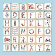 Canvas Alphabet for kids - BOYS Farm