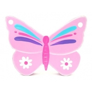 Wooden Block Freestanding butterfly