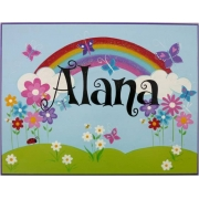Personalised Name Plaque for kids wall or door Rainbow