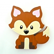 Wooden Block Freestanding fox