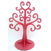 Jewellery Tree - LARGE Choose from over 20 colours shown here in rouge pink gloss with aqua gems