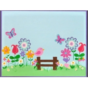 Personalised Name Plaque for kids wall or door Springtime