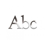 Acrylic Letters / Names Classic Font (lower case) Mirror Finish 16 cm high