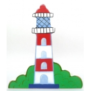 Wooden Block Freestanding lighthouse