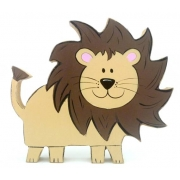 Wooden Block Freestanding lion
