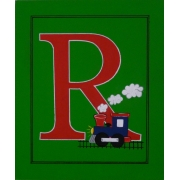 Personalised Kids Name Canvas Wall Art Canvas Name Plaque Handpainted Train