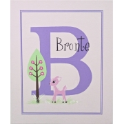 Personalised Kids Name Canvas Wall Art Canvas Name Plaque Handpainted Little Deer