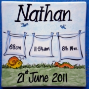 Name Tile Personalised - Boy