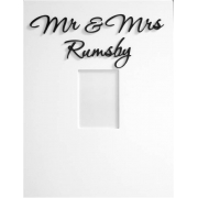 Personalised Picture / Photo Frames Mr and Mrs Frame (shown here with bermuda black lettering)