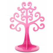 Jewellery Tree - LARGE Choose from over 20 colours shown here in dark pink gloss