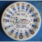Handpainted Plate - Teacher with Students