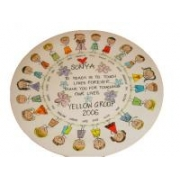 Handpainted Plate - Teacher with Girls and Boys