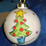Bauble Christmas Handpainted Ceramic and Personalised Christmas Tree