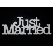 Wedding Sign Freestanding Use for Table Decoration or Photo Prop JUST MARRIED