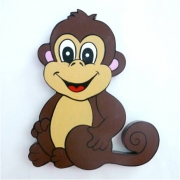 Wooden Block Freestanding monkey - boy