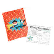 Tooth Fairy Bag Personalised for Kids - Boys Superhero