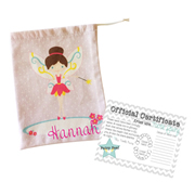 Tooth Fairy Bag Personalised for Kids - Pretty